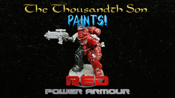 Warhammer painting tutorial - Red Space Marine Power Armour