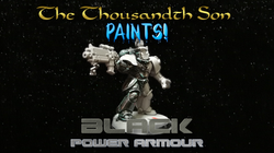 Warhammer painting tutorial - Black Space Marine Power Armour