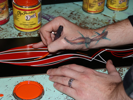 Pinstriping, ink in your skin, paint on your fingers...
