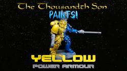 Warhammer painting tutorial - Yellow Space Marine Power Armour