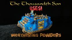 Warhammer Hobby Tutorial - Weathering Powders
