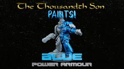 Warhammer painting tutorial - Blue Space Marine Power Armour