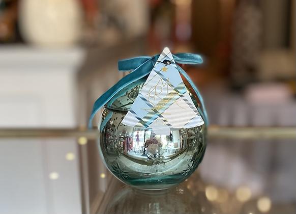 Medium Ornament Candle-Snowy Cypress