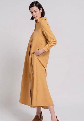 Maxi Shirt Dress-Khaki