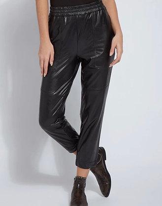 Brisk Leather Jogger-Black MEDIUM