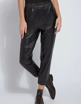 Brisk Leather Jogger-Black XS