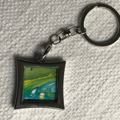 Keychain with Original Painting