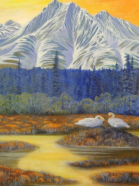 Spring (Trumpeter Swans)