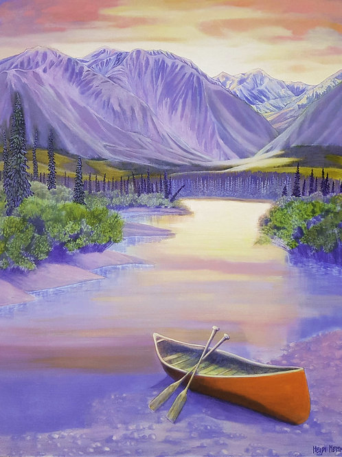 """Romance of a River, 24"""" by 30"""""""