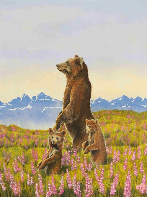 High Country (Grizzly and cubs)