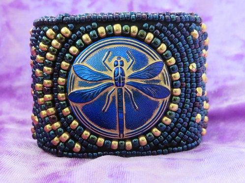 Dragonfly Dreams (Blue) Cuff (7.5 inches)