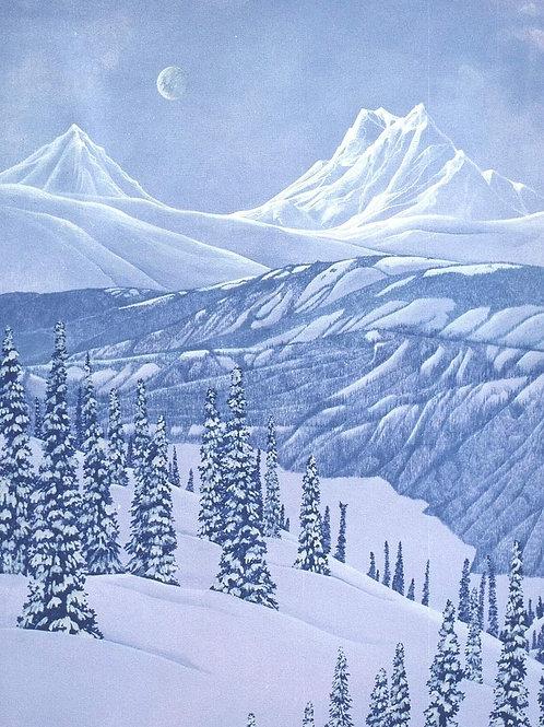 Yukon River Valley Moon