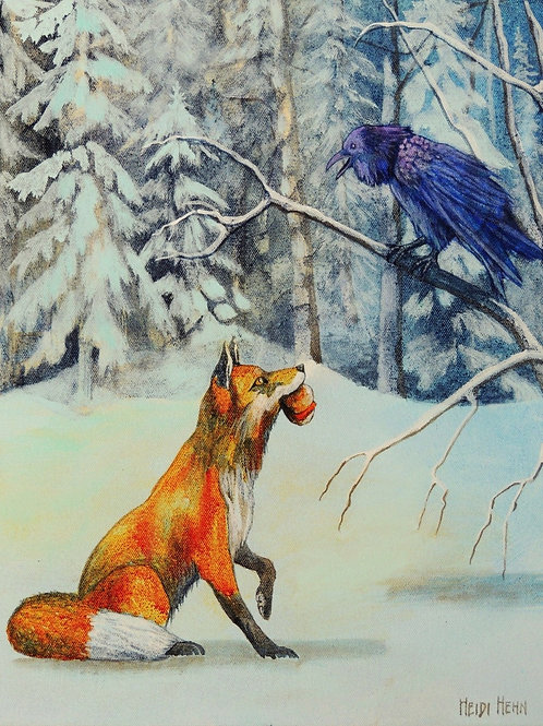 Outfoxed (Red Fox and Raven)