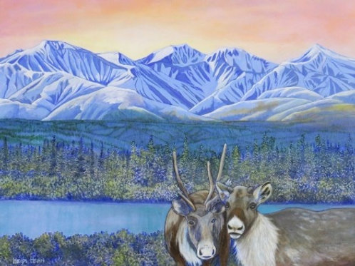 """Caribou Country, 24"""" by 30"""""""