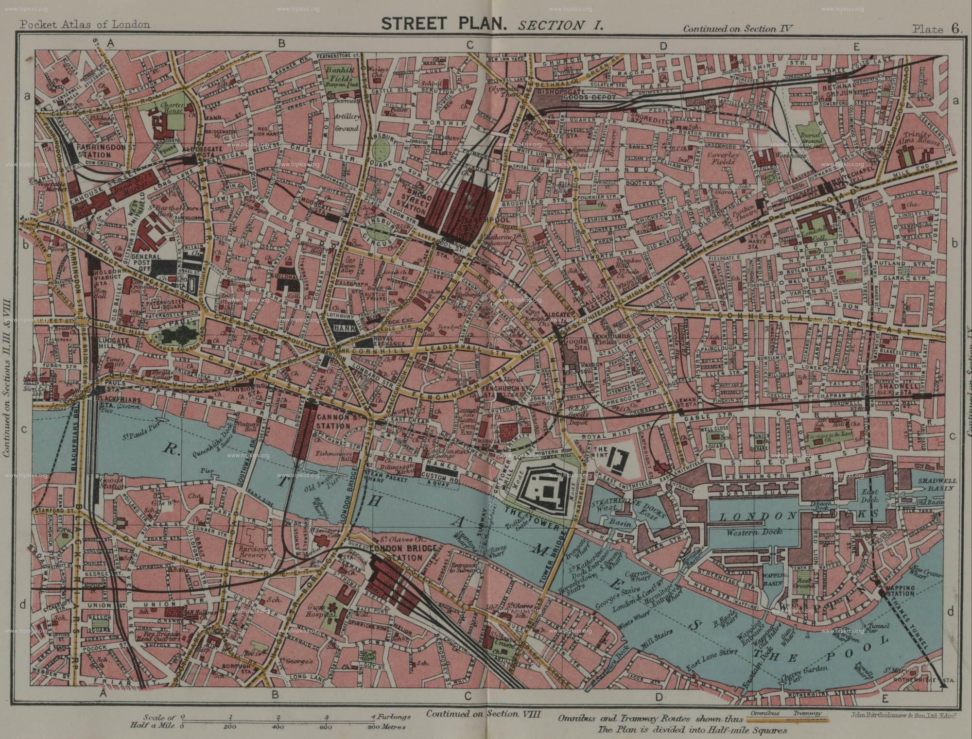 East End Of London Map.London Maps Jewish London Genealogy