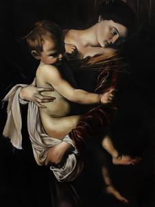 Caravaggio 'Madonna di Loreto' Mastercopy oil on canvas