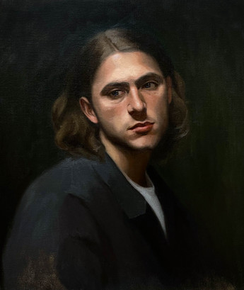 Portrait of Marco, oil on canvas