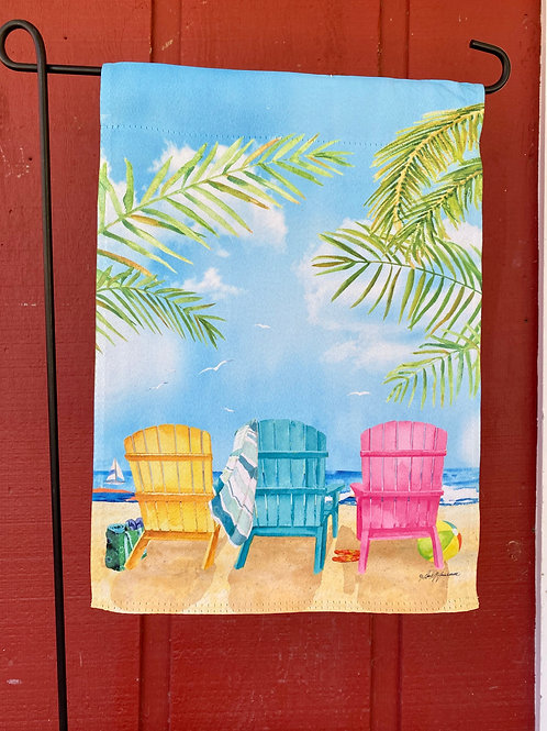 Beach Chairs Flag