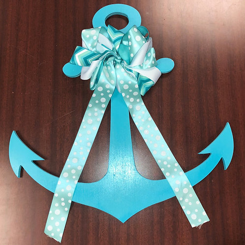 Anchor with Tri-Colored Bow