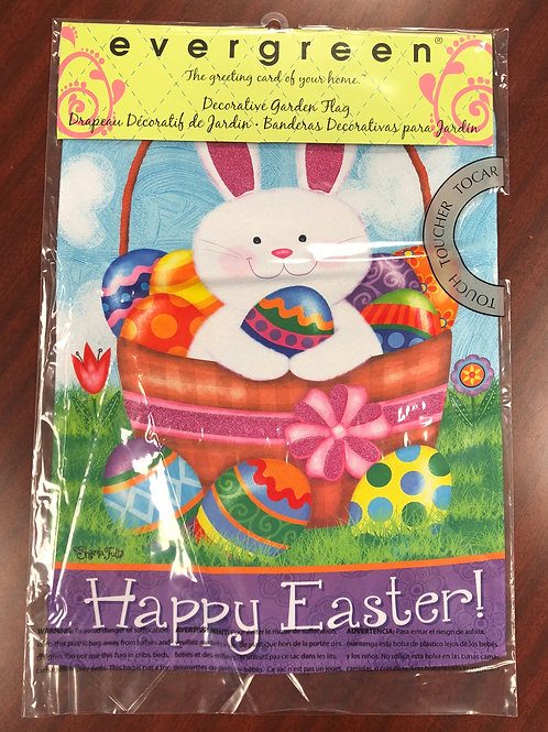Happy Easter (with bunny) garden flag