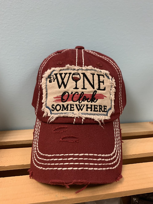 It's Wine O'clock Somewhere Hat