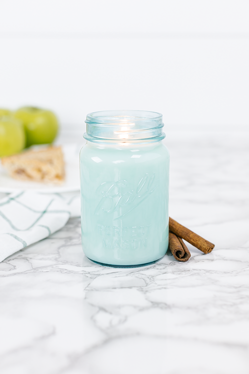 Momma's Kitchen 16 oz. Blue Jar Candle