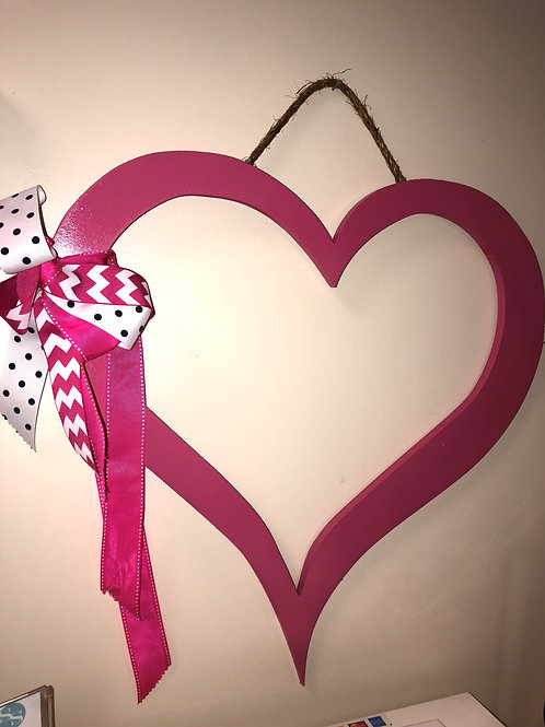 Big Heart Monogram with Bow