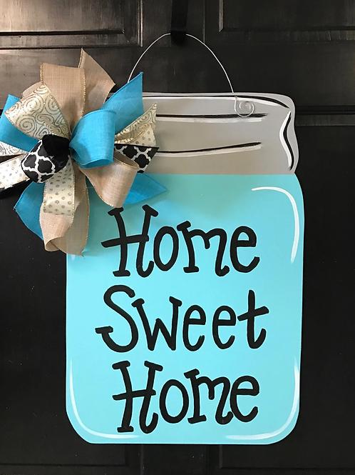 Home Sweet Home Mason Jar Door Hanger