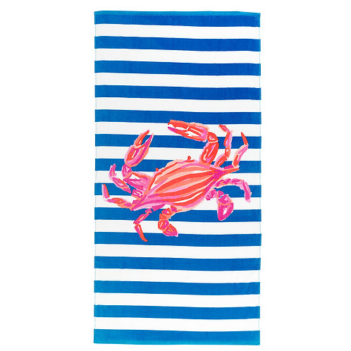 Beach Towel- Crab