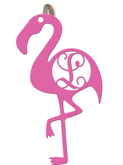 Flamingo Monogram 18""