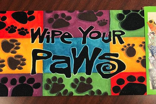 Wipe Your Paws floor mat