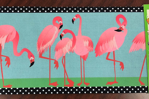 Flamingo door mat
