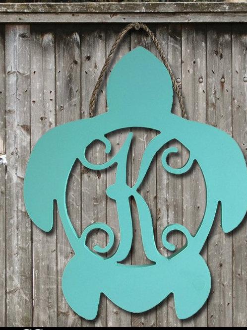 Turtle Wooden Monogram - approximately 20""