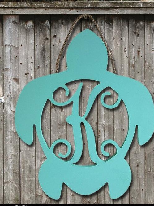 "Turtle Wooden Monogram - approximately 20"""