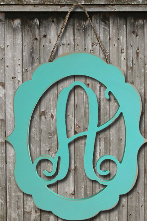 Fancy Frame Monogram 18""