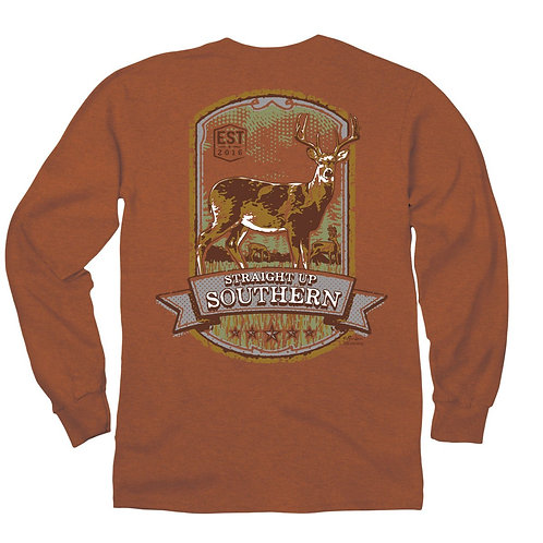 Deer Panel Long Sleeve T-Shirt