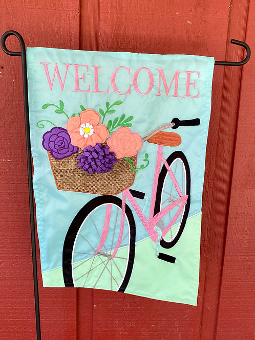 Welcome Bike Flag