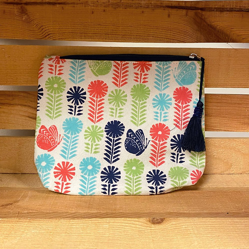 Butterfly Blooms Cosmetic Bag