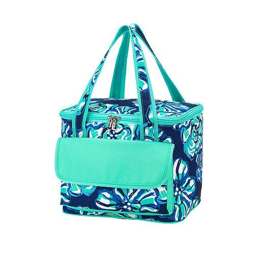 Navy Floral cooler bag