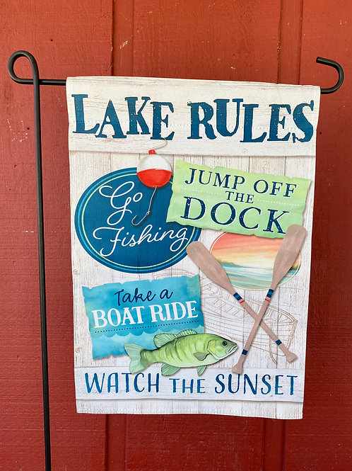 Lake Rules Flag