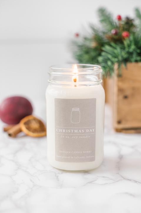 Christmas Day 16oz Mason Jar Candle