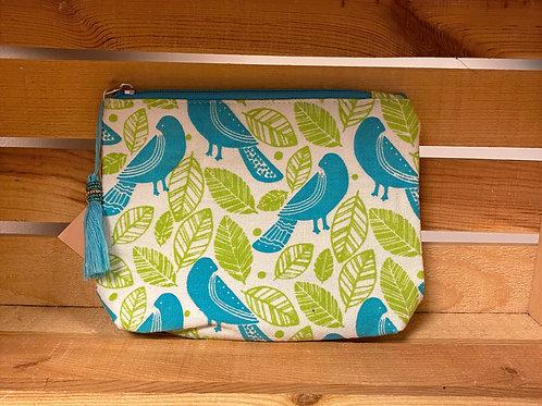 Botanical Birds Cosmetic Bag