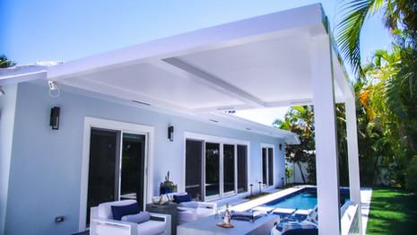 Fixed roof Pergola.