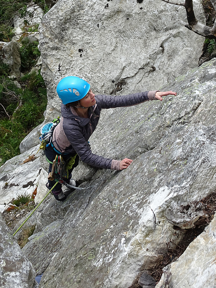 Trad climbing, Barnbawn, Co. Wicklow