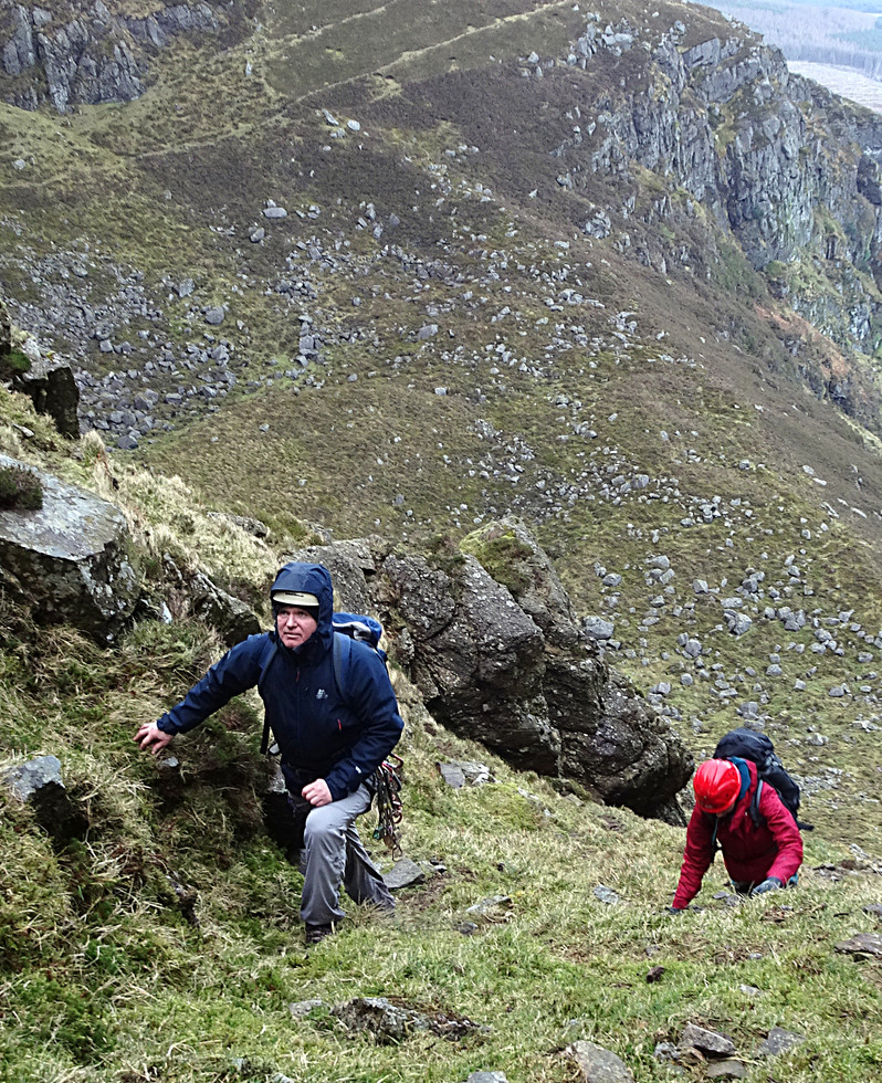 Scrambling, Crotty's Coum, Co. Waterford