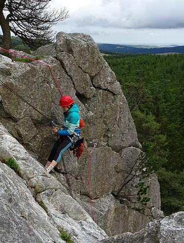 Trad climbing, Barnbawn, Co. Wicklow
