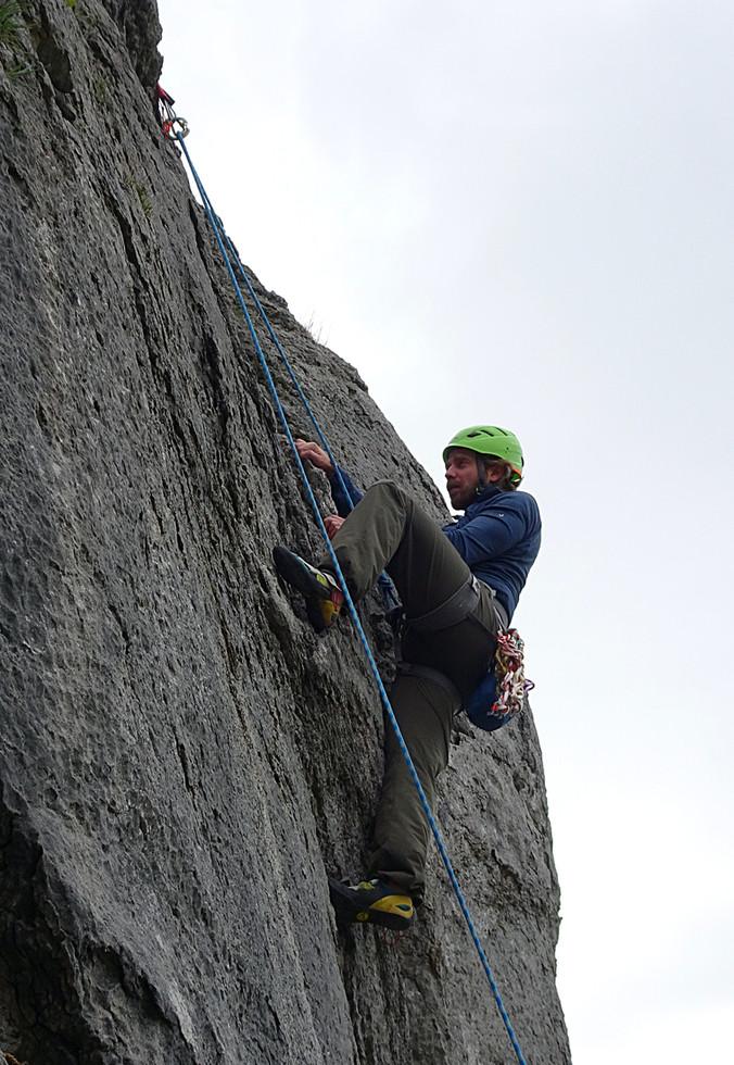 Trad climbing, Ballyryan, Co. Clare