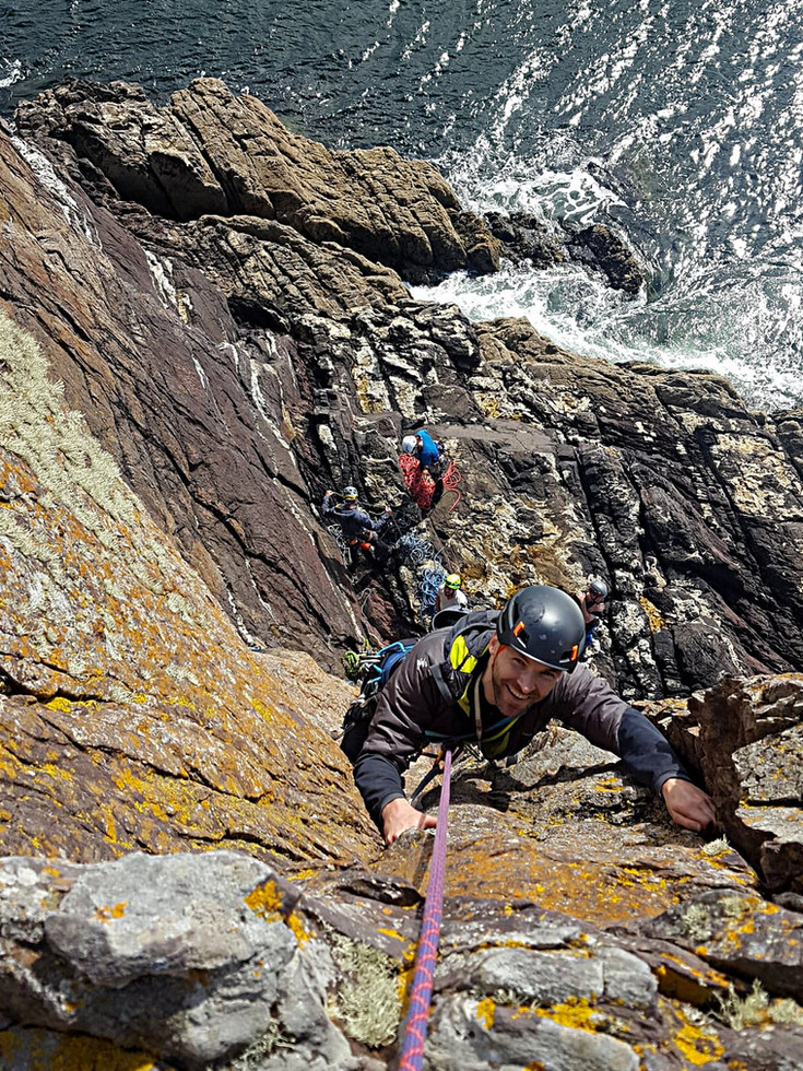 Trad climbing, Dunshean Head, Co. Kerry
