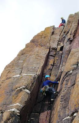 Trad climbing, Dunshean Head, Co. Clare