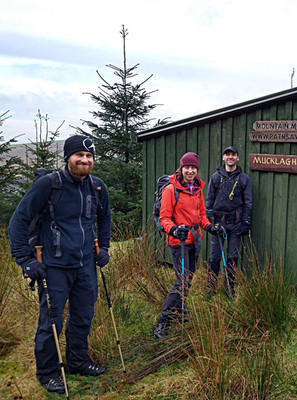 Hiking, Mucklagh Hut, Co. Wicklow
